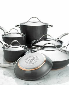 Love this set! So easy to clean and cooks chicken especially well. Anolon Nouvelle Hard-Anodized Copper 11 Piece Cookware Set - Cookware - Kitchen - Macy's Bridal and Wedding Registry
