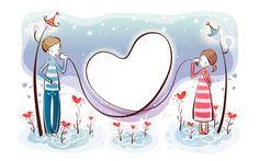 Couple in love Artistic HD desktop wallpaper, Heart wallpaper, Love wallpaper, Couple wallpaper, Romance wallpaper - Artistic no. Champs, Couple Clipart, Valentines Illustration, Cute Couple Cartoon, Valentines Art, Dibujos Cute, Canvas Prints, Art Prints, Love Wallpaper