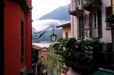 View of Lago di Como from Lombardy, Italy