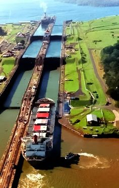 Visiting Panama Canal and being fortunate to see how a ship goes to the other side in minutes!! Amazing!!