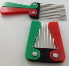 2 x AFRO COMB METAL TEETH FOLDING FOLDABLE HANDLE HAIR BRUSH COMBS NEW COMB PICK. OLD SCHOOL 70'S!