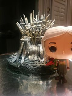 Game of Thrones Themed Birthday cake! Themed Birthday Cakes, Iron Throne, Khaleesi, Birthday Candles, Snow Globes, Game Of Thrones, Pretty, Home Decor, Homemade Home Decor