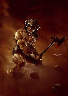 Conan the Barbarian is a fictional sword and sorcery hero that originated in. Dark Fantasy Art, Fantasy Artwork, Conan Comics, Savage Worlds, Conan The Barbarian, Sword And Sorcery, Red Sonja, Fantasy Warrior, Pulp Fiction