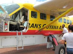 The most efficient way to reach Guyana's remote interior is via commercial air service. Minibuses traverse the road from Georgetown to the Brazilian border, but the 320-mile trek takes about 14 hours.