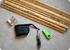 How to hang bamboo shades (outside mount)