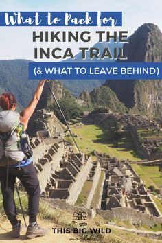 Outdoor Travel packing So you wanna hike the Inca Trail to Machu Picchu Great! But, what in the world do you pack for the trek The Prepared Girls Guide to packing for the Inca Trail has you covered, including what to pack, what to leave behind, and more! South America Destinations, South America Travel, Travel Destinations, Holiday Destinations, Bolivia, Ecuador, Patagonia, Vigilante, Titicaca