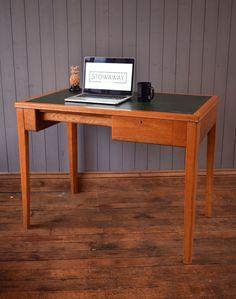 Vintage Mid Century Wooden MOD Desk Kitchen Table -  Industrial - CAN DELIVER