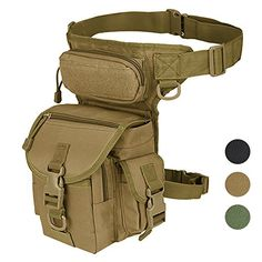 Military Tactical Drop Leg Bag Tool Fanny Thigh Pack Leg ...