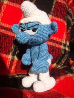 Amigurumi Smurfs and Images Free Crochet, Knit Crochet, Crochet Disney, Smurfette, Crochet Dragon, Amigurumi Doll, Crochet Animals, Crochet Dolls, Crochet Projects