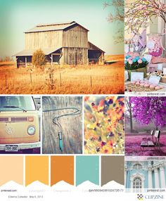 Colors for fall wedding? love how blue is incorporated/.