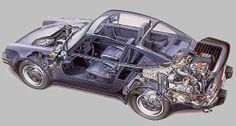 porsche 930 cutaway