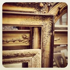 Gilded mirrors French antique circa 1880