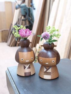 New kokeshi (wooden figurines) by TAKE-G, Japan