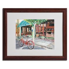 Coffee Shop by Colleen Proppe Matted Framed Painting Print
