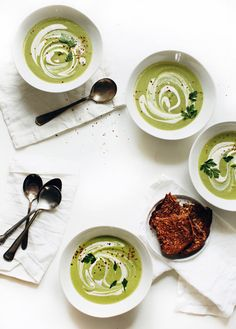 Cream of Broccoli and Cashew Soup // My New Roots