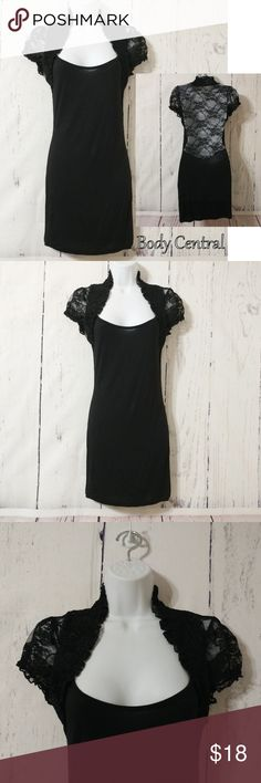 ad76a838884 Body Central Black Lace Top Body Central Black Lace Top Size  Large ~  Material