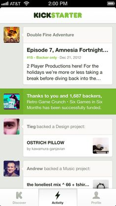 Introducing the Kickstarter App for iPhone and iPod Touch