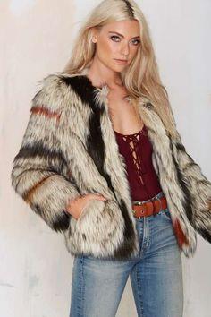 World Tour Faux Fur Coat - That '70s Flow | Faux Fur