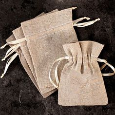 Fill this charming Mini Linen Drawstring Pouch Favor Bag with treats and favors of your choice for a wedding or party favor that no one will leave behind! Pair with our Burlap Collection and the Perso