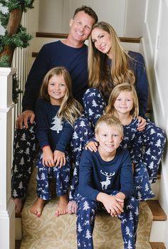 84522ca9c9 Polar Express ideas - Embroidered Family Christmas Pajamas Navy Deer Pajamas  Family Christmas Pajamas