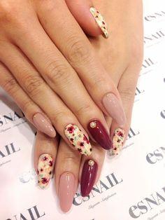 20 Fall Nail Art Designs You'll Love 08 Gel Nail Art, Acrylic Nails, Cute Nails, Pretty Nails, Hair And Nails, My Nails, Uñas Fashion, Fall Nail Art Designs, Nail Design