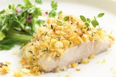 A crunchy outside covers a juicy white fillet in this great dish from Curtis Stone. The superb blend of flavours will make this dish a favourite for dinner parties!