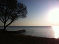 Tuesday morning on Lake St. Clair in St. Clair Shores, Michigan.