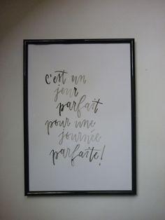 Affiche calligraphie à imprimer, décoration murale