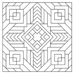 Geometric Coloring Pages, Mandala Coloring Pages, Adult Coloring Pages, Coloring Sheets, Pattern Coloring Pages, Coloring Books, Color Me Badd, Mandala Pattern, Printable Coloring Pages