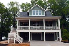 Plan built in North Carolina has square feet of 4 beds, baths and a … - Architecture House Plans Beach Cottage Style, Beach Cottage Decor, Coastal Cottage, Coastal Living, Coastal Homes, Coastal Decor, Lake Decor, Coastal Bedrooms, Coastal Style