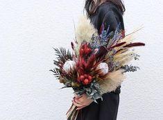 Bouquet。 オーダーありがとうございます。 . . #ブーケ #ドライフラワー #プリザーブドフラワー #プレ花嫁 #結婚準備 #結婚式準備 #花嫁準備 #挙式 #披露宴 #お色直し #前撮り #フォトウェディング #ウェディングブーケ #ブライダルブーケ #リースブーケ #ヘッドパーツ #ウェディングヘア #ブライダルヘア #ナチュラルウェディング #ウェディングドレス #カラードレス #和装 #卒花嫁 #2018秋婚 #2018冬婚 #2019春婚 #2019夏婚 #2019秋婚 #2019冬婚 #soui Protea Bouquet, Floral Bouquets, Wedding Bouquets, Jewel Tone Wedding, Floral Wedding, Beautiful Flower Arrangements, Beautiful Flowers, Flower Installation, Bridal Flowers
