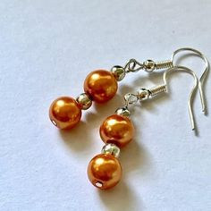 Glass Pearls Beaded Handmade Earrings for Women Pearl Beads, Women's Earrings, Earrings Handmade, Artisan, Pearls, Glass, Silver, Color, Jewelry