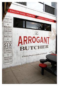 The Arrogant Butcher Ad work