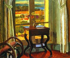 Bell, Vanessa (English, 1879-1961) - Interior with a Table - 1921