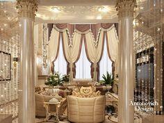 Дизайн гостиной. Идеальный образ современного дворца от Анжелики Прудниковой и Студии Элитных Интерьеров #AntonovichDesignMoscow отражён в этом авторском дизайн-проекте загородного дома.