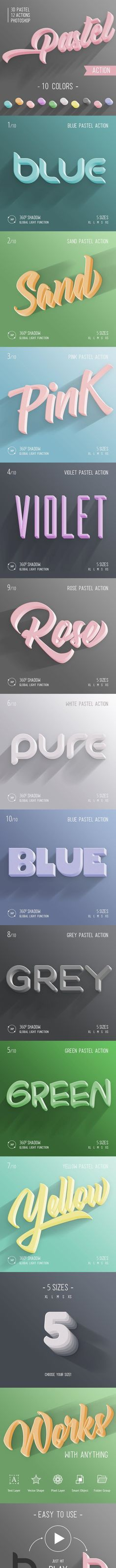 Buy Pastel - Photoshop Action by on GraphicRiver. One click action Photoshop ver. Photoshop Text Effects, Cool Photoshop, Best Photoshop Actions, Photoshop Tips, Photoshop Design, Photoshop Tutorial, Photoshop For Photographers, Photoshop Photography, Adobe Illustrator Tutorials