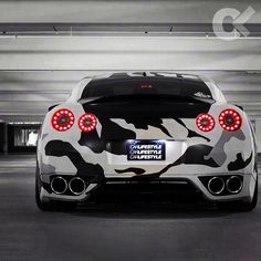 Sick paint job on this Nissan GTR!