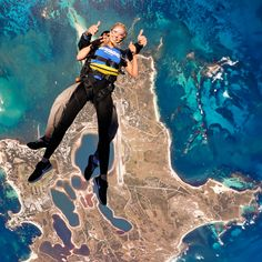 Tandem skydiving over Rottnest Island near Perth WA! Its a jump you just have to do. Book at breakloose.com.au, search SDG200. Senior Trip, Fall 14, Paragliding, Turquoise Water, Island Beach, Extreme Sports, Winter Months, Tandem