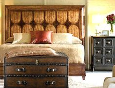 I pinned this from the Stanley Furniture - Stately & Contemporary Furniture event at Joss and Main! Home Bedroom, Bedroom Ideas, Master Bedroom, Bedroom Decor, Africa Decor, British Colonial Decor, Urban Decor, Stanley Furniture, Pinterest Home