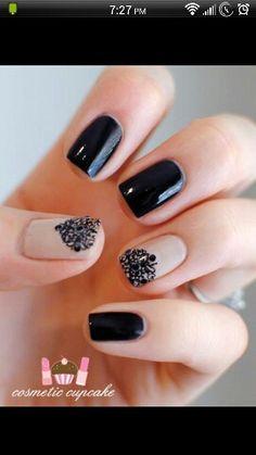 A twist on black nails
