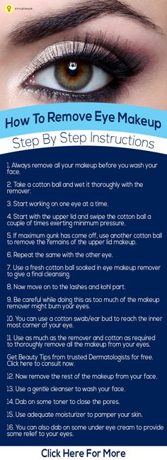 Adding colors on your eyes and making them pretty are such a lovely task, removing eye makeup can be quite a task!: Following are the points ...
