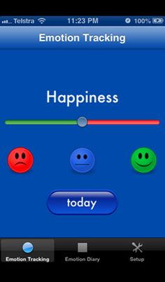 The Emotion Diary by canApps. Record your emotions each day and track changes or patterns over time.