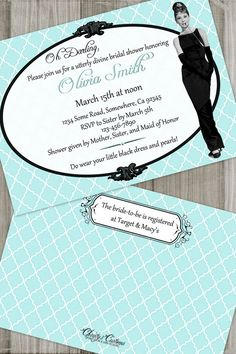 Breakfast at Tiffany's Bridal Shower by ChristysCustomsBlog, $12.00