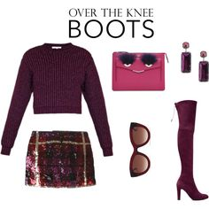 friday fabulous by vkrene on Polyvore featuring moda, Carven, P.A.R.O.S.H., Stuart Weitzman, Fendi, First People First and Thierry Lasry