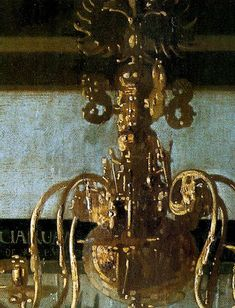 The Art of Painting. (detail of chandelier).