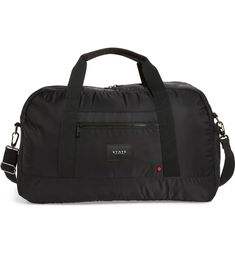 The Heights - Franklin Nylon Duffel Bag, Main, color, BLACK Nylon Tote, Gym Style, Duffel Bag, In The Heights, Gym Bag, Nordstrom, Color Black, Bags, Gift Ideas