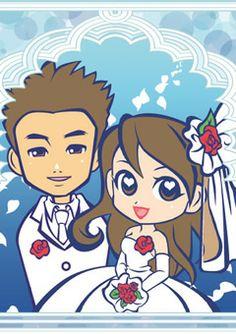 ウェルカムボード 似顔絵 http://wedding.mypic.jp/data/034