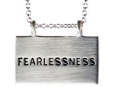 Silver Joyful Heart Foundation Fearlessness Pendant! Going to buy this the second I have an extra $170 in my bank account!!