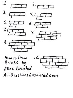How to Draw Bricks or a brick wall. Great for backgrounds! - Art Questions Answered