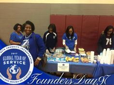 The Lovely Sorors of Nu Theta Zeta Chapter. 2017 Global Day of Service